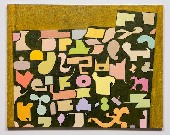 Thomas Nozkowski, <em>Untitled (9-70)</em>, 2017. oil on linen on panel. 22 × 28 inches © Estate of Tom Nozkowski. Courtesy Pace Gallery.
