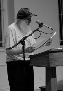Sparrow reads at St. Mark's Church. Photo by Jennifer Jeane.