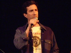"Vincent Katz performing ""Judge"" with the Lindsey Horner Group, Bowery  Poetry Club, April 28, 2007"