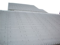 The New Museum's aluminum-mesh cladding. Photo by Benjamin Friedman.