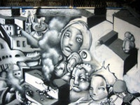 Graffiti depicting