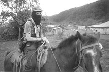 Subcommandante Marcos in the Zapatista village La Realidad, Chiapas, 1996