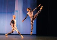 Cedric Andrieux and Derry Swan in Cunningham's Split Sides. Photo by Jack Vartoogian