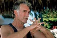 John Sayles on the set of Casa de los Babys. Courtesy of IFC Films.