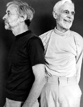 Rudy Burckhardt and Edwin Denby, 1981. Photograph by Rob Brooks. Courtesy Tibor de Nagy Gallery, New York.