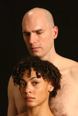 Bryant Bradshaw as the Creature (top) and Amelia Workman (bottom). Photo by Eugenie Doe.