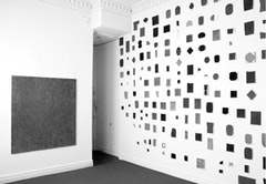 Howard Smith. Exhibition view at Björn Ressle Gallery. From left: