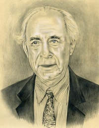 Portrait of Irving Sandler. By Phong Bui 8