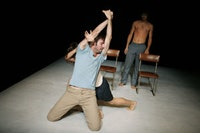 Lucas Condro, Noela Leonzio and Pablo Lugones in <i>Alaska</i>. Photo by: Julieta Cervantes