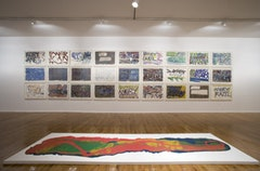 Foreground: Lynda Benglis,