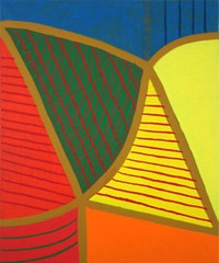 "Harriet Korman, ""Untitled,"" (2007). 36 x 30 in. Oil on canvas."