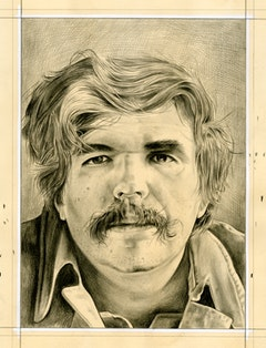 Portrait of Stan Brakhage (inspired by Friedl Kubelka's photo of the artist). Pencil on paper by Phong Bui.