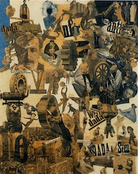 "Hannah Höch, ""Cut with the Kitchen Knife through the Last Weimar Beer-Belly Cultural Epoch in Germany"" (Schnitt mit dem Küchenmesser durch die letzte Weimarer Bierbauchkulturepoche Deutschlands). (1919-1920) Photomontage and collage with watercolor, 44 7/8"