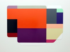 "Ruth Root. ""Untitled,"" (2007-2008). Enamel on aluminum. 36 ½  X 84 ½ in."