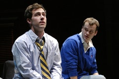Tim Rock and Stephen Louis Grush in the Steppenwolf Theatre production of <i>Good Boys and True</i> by Roberto Aguirre-Sacasa, directed by Pam MacKinnon. Photo by Michael Brosilow.