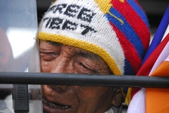 Mewang Ngymal: at 67, the oldest man on the march who spent five years in a chinese labor camp after he returned to tibet at 17 to see his parents again.