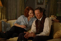 Penny for your thoughts? Patricia Clarkson and Chris Cooper portray a less-than-blissful couple in <i>Married Life. Joseph Lederer © 2007 Marriage Productions LLC. Courtesy Sony Pictures Classics.</i>