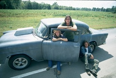 Laurie Bird as <i>The Girl,</i> James Taylor as <i>The Driver</i>, Dennis Wilson as <i>The Mechanic,</i> '55 Chevy as <i>The Car. Courtesy of the Criterion Collection</i>