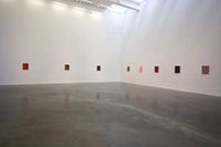 Installation view, Tomma Abts at the New Museum. <i>Photo by Alison Brady.</i>