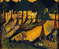 <i>Seminole Everglades</i>, (1945), oil on masonite, 22 x 26 in.
