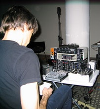 Composer/synthesizer player David Galbraith at Diaspason. Photo by: Michael Schumacher