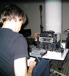 Composer/synthesizer player David Galbraith at Diaspason. Photo by: Michael Schumacher