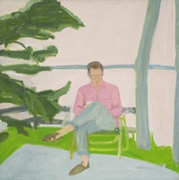 "Alex Katz, ""Peter Humphrey"" (1960). Oil on linen, 49"