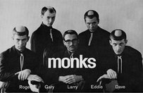 Official Monks promo postcard, 1966, after haircut. © play loud! + Monks