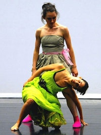 Francesca Romo and Belinda McGuire of Gallim Dance. Photo by Joon Kim.