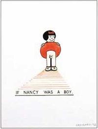 "Joe Brainard, ""If Nancy Were a Boy,"" (1972), gouache on paper."