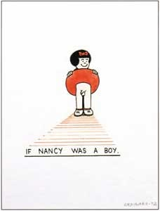 "Joe Brainard, ""If Nancy Were a Boy,"" (1972), gouache on paper."