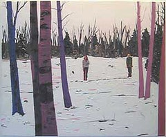 "Kim Dorland, ""Hoarfrost #4,"" (2008) oil on canvas 60 x 72 inches."