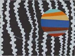 """Thomas Nozkowski,  """"Untitled (P-33),"""" (2008), oil on paper. 22"""