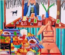 "Ryan Schneider, ""On Looker,"" (2008) oil on canvas, 72 x 84 in. (182.9 x 213.4 cm). Courtesy of the Artist and Priska C. Juschka Fine Art."