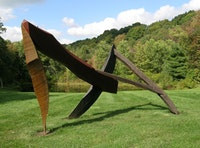 "Tom Doyle, <i>Innishkeen</i> (2003).  6'4""h. x 8'5""w. x 10'10""l.  sasafras, oak, cherry."