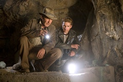 Shia LeBeouf as Mutt and Indiana Jones  explores.  Photos courtesy of LucasFilms.