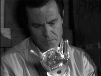 Robert Culp as Harlan Ellison's immortal demon with a glass hand. Photo courtesy of The Outer Limits