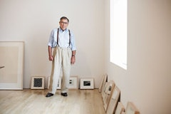 Photo of Wynn Kramarsky in his office. Photo by Noah Sheldon, 2005.