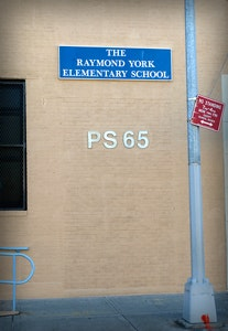 Front of P.S. 65.
