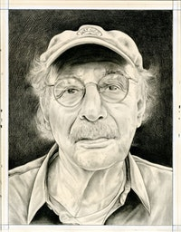 Portrait of the curator by Phong Bui. Pencil on paper.
