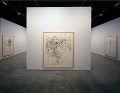 Installation view of Rebecca Horn; Cosmic Maps.  Photography: Steven P. Harris, New York.  Courtesy: Sean Kelly Gallery, New York.