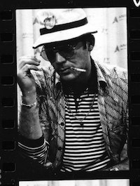 Hunter S. Thompson in <i>Gonzo: The Life & Work of Dr. Hunter S. Thompson</i>, a Magnolia Pictures release. <i>Photo courtesy of Magnolia Pictures</i>.