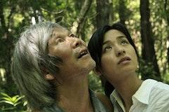 <i>The Mourning Forest (Mogari no mori) © KUMIE/Celluloid Dreams  Production/Visual Arts College Osaka (Left) Shigeki Uda (Right) Machiko Ono</i>