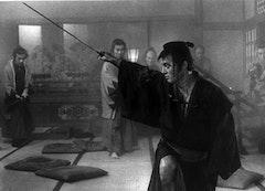 Tatsuya Nakadai in Kihachi Okamoto's SWORD OF DOOM (1966). Toho Co.