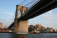 The Waterfalls under the Brooklyn Bridge.