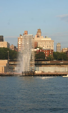 The Waterfalls along the Brooklyn Promenade between Pier 4 and 5.