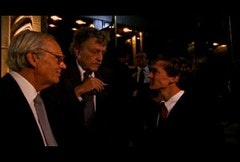 Lewis Lapham and Kurt Vonnegut speak to one of the Yale grads.  Photo courtesy of The Press & Public Project, Inc.