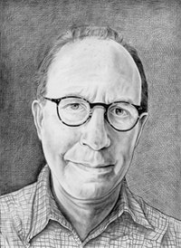 <i>Portrait of Jerry Saltz. Pencil on paper by Phong Bui.</i>