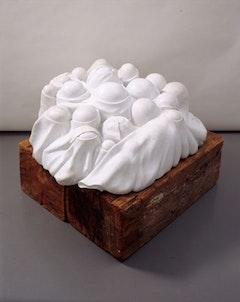 """<i>Louise Bourgeois, """"Cumul I"""" 1968. White marble. 51 × 127 × 122 cm. AM 1976-933. © CNAC/MNAM/Dist. Réunion des Musées Nationaux / Art Resource</i>"""