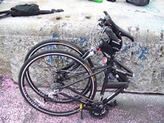 A folding bike. Photo by Ray Schwartz.